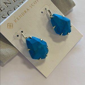 Rosenell earrings gold turquoise